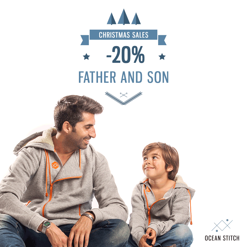 20% of discount in all man and kids products